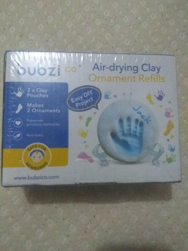 Bubzi Co Baby Handprint Footprint Keepsake Clay Ornament Refills * NEW