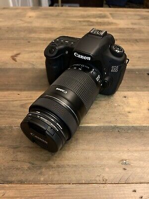 Canon EOS 60D 18.0MP Digital SLR Camera - Black w/ EF-S IS 55-250mm Zoom Lens