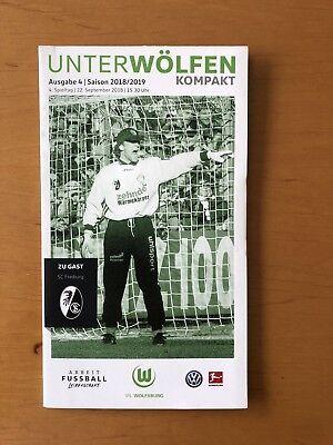 Stadionheft Stadionflyer Unter Wölfen VFL Wolfsburg-Freiburg Poster Arnold *NEU* gebraucht kaufen  Wolfsburg
