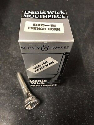 Denis Wick 4N French Horn Mouthpiece-New,Unused Silver Plated-