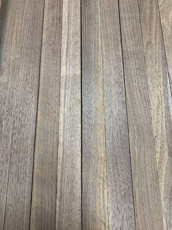 "Beautiful! 12 Boards Of  Black Walnut Lumber Dried Size: 3/4""x 2""x 16"" DIY Wood"