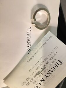 Tiffany Square T Ring - Sterling Silver