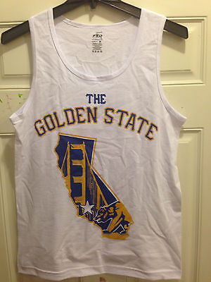 The GOLDEN STATE MAP  Tank Top White color Tank - Warriors Color Adult Tank Top (Map Tank)