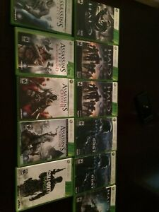 Xbox 360 call of duty, halo, assassins creed games.  $5 each