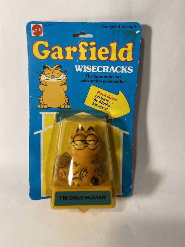 Garfield Wisecracks Smiles Factory Sealed Mattel United Feature Syndicate