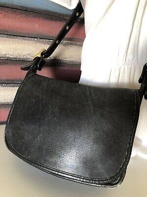 Coach 9951 Patricia's Legacy Black Leather Crossbody Messenger Handbag Purse VTG