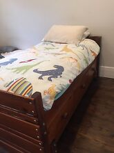 Single Bunkers Bed with under bed drawers, trundle and mattress Surrey Hills Boroondara Area Preview