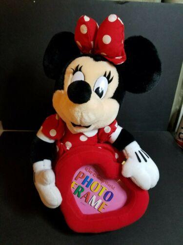 Mini Mouse Plush Walt Disney World Valentine Heart Picture Frame