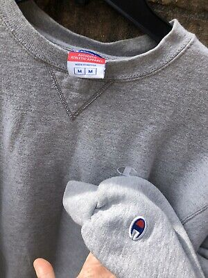 CHAMPION vintage 90s Gray Sweatshirt Mens Medium EUC