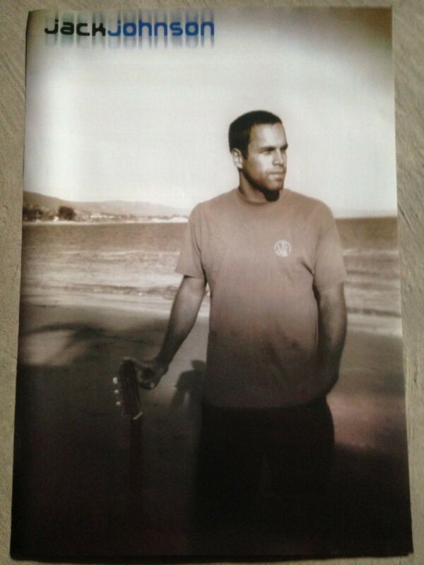 Jack Johnson poster 24x36 - beach, Soft Acoustic Rock, Surf