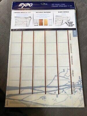 2 Lot Expo Dry Erase Cling Calendar 14x10