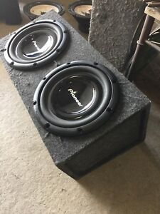 "Dual 12"" subwoofers"