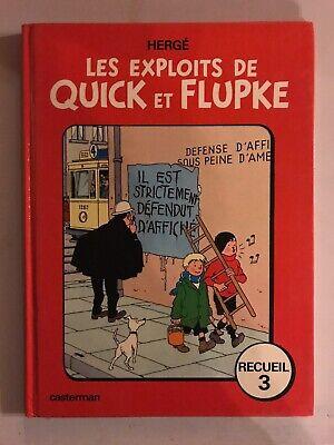 BD Les Exploits De Quick Et Flupke Casterman Hergé Recueil 3 Ré 1975