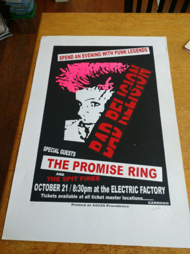 Bad Religion Promise Ring Electric Factory East Providence Pete Cardoso SIGNED