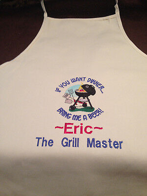 Personalized Monogrammed Grilling Apron    Made To Order