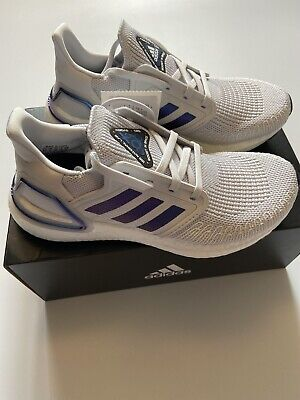 Women's Adidas ULTRABOOST 20W Size UK 5 Dash Grey Boost Blue Violet Running BNIB