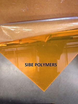 Orange Fluorescent Acrylic Plexiglass 18 X 24 X 24 Plastic Sheet
