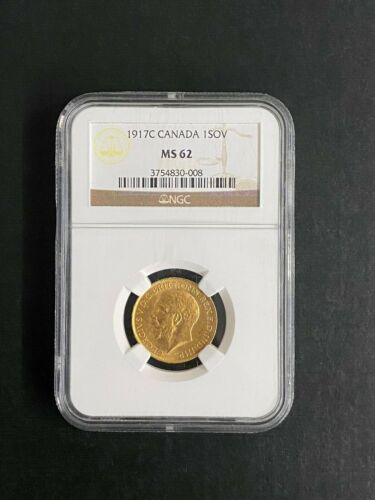 1917 C Canada 1  sovereign MS  62 Gold Coin