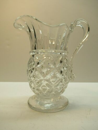 Early Blown & Pressed Glass Water Pitcher