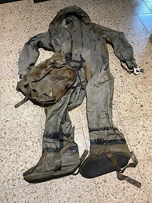 NVA ABC Schutzanzug Einteiler Gummioverall Overall Gr. 2 mit Tasche