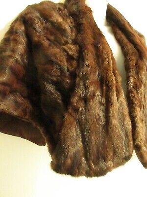 ALASKAN FUR SHOP BHS Vintage Shawl Wrap Chocolate Brown Mink Rabbit Cover Up for sale  Pasadena