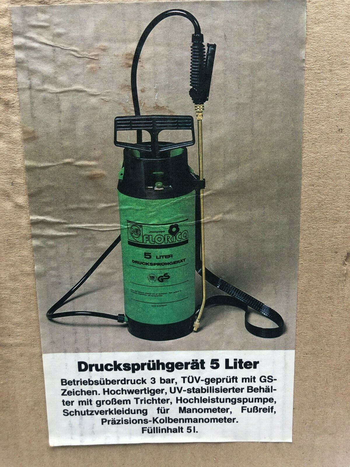 Drucksprühgerät Florica 5 Liter, 3 bar