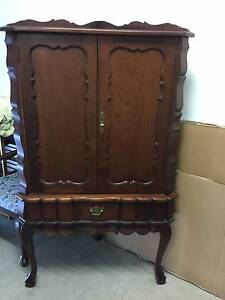 IMBUIA WOOD CORNER UNIT DRINKS CABINET Manly Brisbane South East Preview
