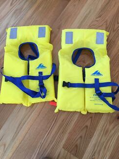 Child's new boating safety vests x 2