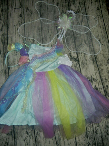 NEW Pottery Barn Kids Light Up Rainbow Fairy Costume Size 4-6 $99 Party Dress up