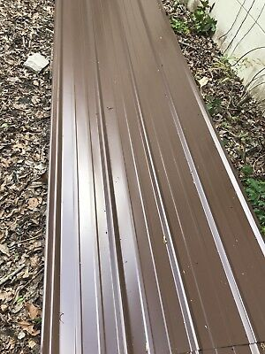 50 Sheets 3x14ft Brand New Metal Roofing Brown Colorread Full Descriptions