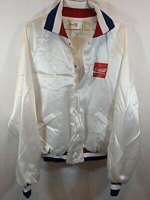 Coca Cola Satin Jacket USA Made King Louie Olympic Sz XL vintage 80s