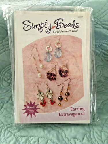 SIMPLY BEADS KIT OF THE MONTH CLUB EARRING EXTRAVAGANZA BD044 - NEW