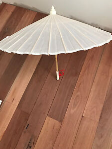 Japanese white fabric umbrella Second Valley Yankalilla Area Preview