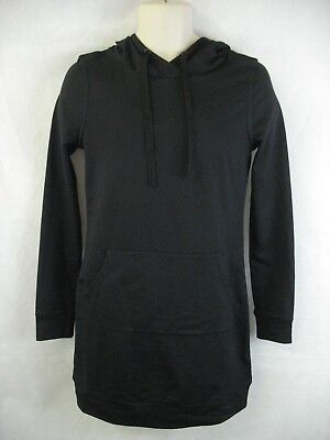 Fabletics Black Hoodie Hooded Yukon Sweatshirt Dress XS/4 NWT