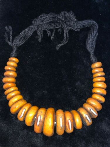 moroccan hand made berber amber strand north african jewelry tribal beads