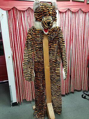 Tiger Mascot Character Costume Plush Birthday Party Surprise