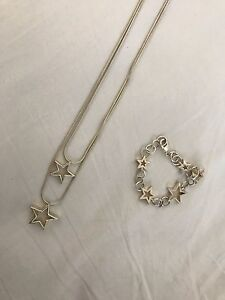 925 Sterling silver star necklace bracelet set Newcastle Newcastle Area Preview