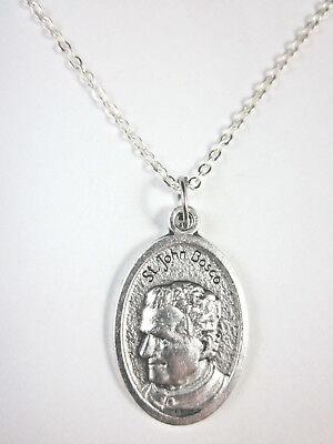 St John Bosco Medal Italy Pendant Necklace 20