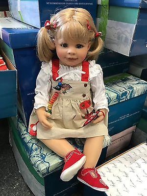 Monika Peter Leicht Vinyl Puppe 72 cm. Top Zustand