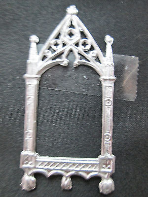 Dollhouse Miniature Unfinished Metal Cathedral Frame