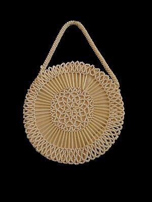 1930s Handbags and Purses Fashion 1930s Vintage Czech Circular Beaded Evening Purse $47.98 AT vintagedancer.com