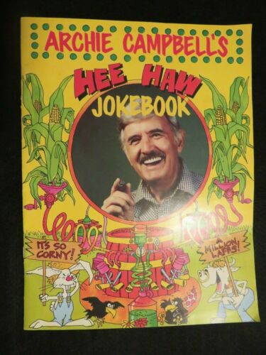 vintage Archie Cambell's Hee Haw Joke Book autographed television souvenir
