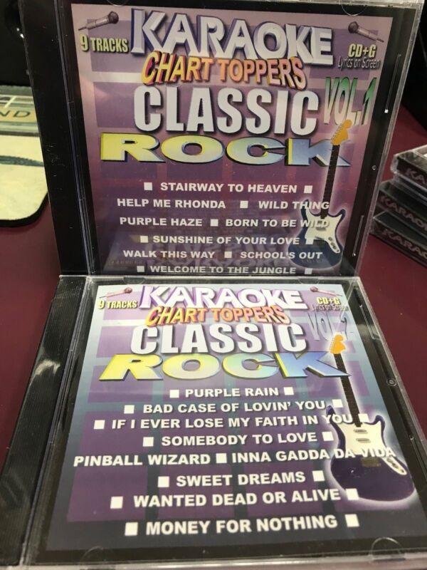 Chart Toppers Karaoke Classic Rock Vol 1 & 2 CDG Multiplex Sealed 2 Disc Set