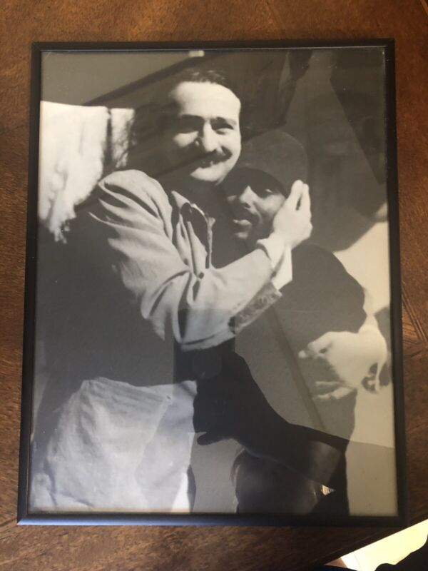 FRAMED VINTAGE Picture of Avatar MEHER BABA with Mast Rare/  Unique!!
