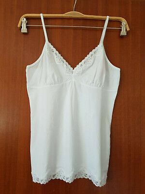 Weiß Top Hemdchen Gr. 42 ESPRIT BODYWEAR Spitze Dessous Unterhemd NEU Camisole