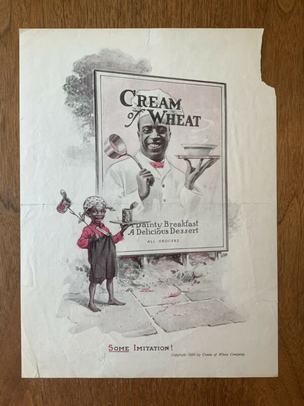 Original Cream Of Wheat Print Ad 1920 Some Imitation!
