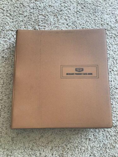 1972  mercury original dealership showroom product data book.