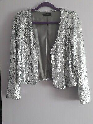 Ladies Sequinned Jacket Size 10 By Karen Kane