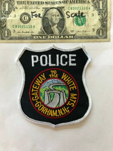 Very rare Gorham New Hampshire Police Patch (white mountains) un-sewn mint shape