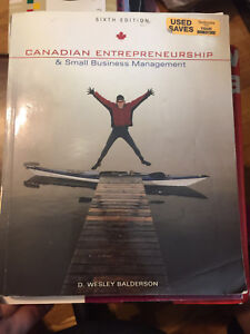 Canadian Entrepreneurship and Small Business Management textbook